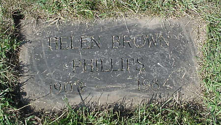 BROWN PHILLIPS, HELEN - Henry County, Iowa | HELEN BROWN PHILLIPS