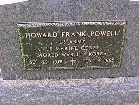 POWELL, HOWARD FRANK - Henry County, Iowa | HOWARD FRANK POWELL