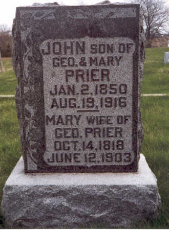 BROOKS PRIER, MARY POLLY - Henry County, Iowa | MARY POLLY BROOKS PRIER