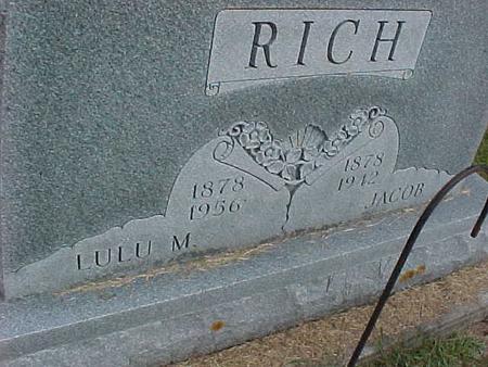 RICH, LULU M - Henry County, Iowa | LULU M RICH