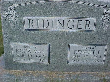 RIDINGER, NONA MAY - Henry County, Iowa | NONA MAY RIDINGER