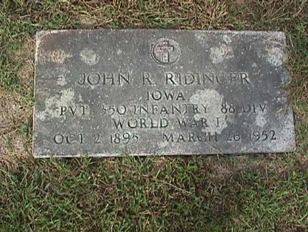 RIDINGER, JOHN - Henry County, Iowa   JOHN RIDINGER