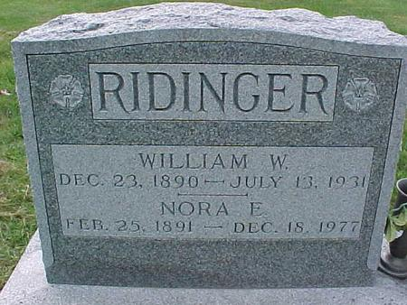 RIDINGER, WILLIAM W - Henry County, Iowa | WILLIAM W RIDINGER
