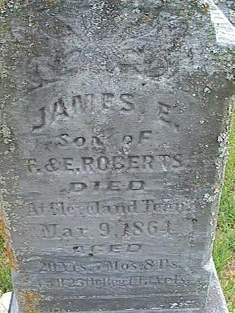 ROBERTS, JAMES E - Henry County, Iowa | JAMES E ROBERTS