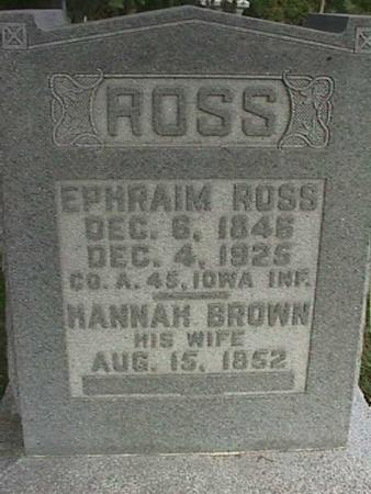 ROSS, EPHRAIM - Henry County, Iowa | EPHRAIM ROSS