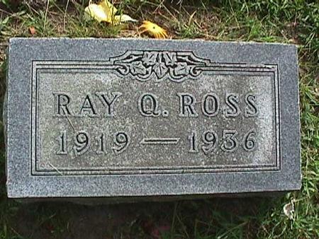 ROSS, RAY Q. - Henry County, Iowa   RAY Q. ROSS