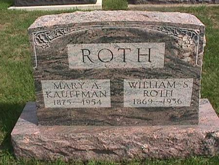 ROTH,  WILLIAM - Henry County, Iowa |  WILLIAM ROTH