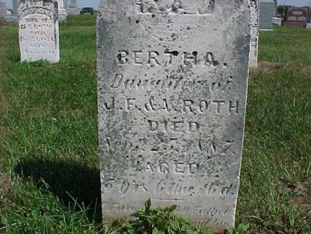 ROTH, BERTHA - Henry County, Iowa | BERTHA ROTH