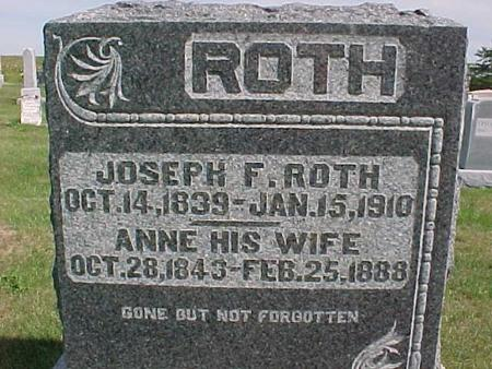 ROTH, JOSEPH F. - Henry County, Iowa | JOSEPH F. ROTH