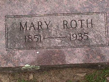 ROTH, MARY - Henry County, Iowa | MARY ROTH