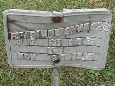 SAMMONS, PRISILLA - Henry County, Iowa | PRISILLA SAMMONS