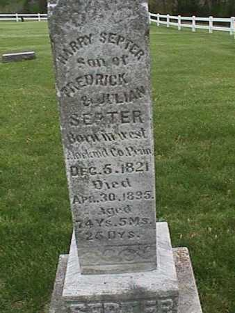SEPTER, HARRY - Henry County, Iowa | HARRY SEPTER