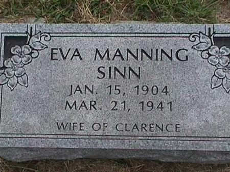 MANNING SINN, EVA - Henry County, Iowa | EVA MANNING SINN