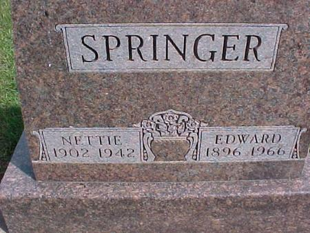 SPRINGER, NETTIE - Henry County, Iowa | NETTIE SPRINGER