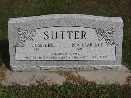 SUTTER, REV. CLARENCE - Henry County, Iowa | REV. CLARENCE SUTTER