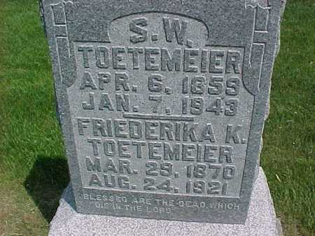 TOETEMEIER, FRIEDERIKA K. - Henry County, Iowa | FRIEDERIKA K. TOETEMEIER