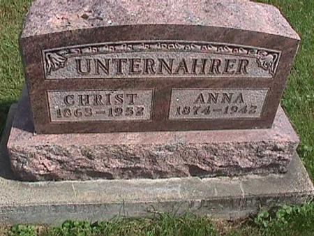 UNTERNAHRER, ANNA - Henry County, Iowa | ANNA UNTERNAHRER