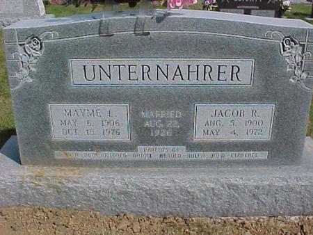 UNTERNAHRER, MAYME L. - Henry County, Iowa | MAYME L. UNTERNAHRER