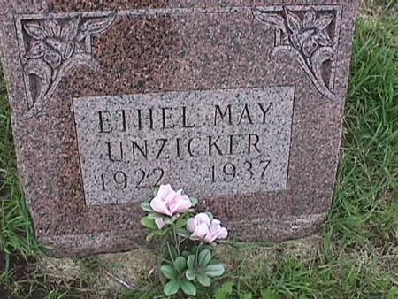 UNZICKER, ETHEL MAY - Henry County, Iowa | ETHEL MAY UNZICKER