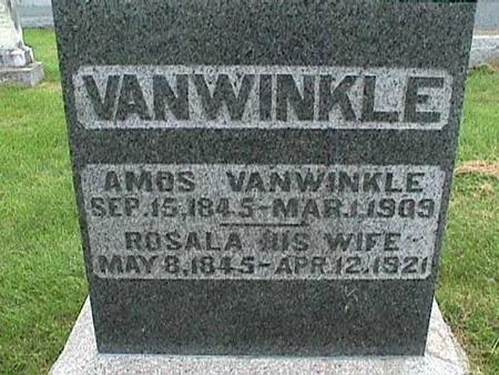 VANWINKLE, AMOS - Henry County, Iowa | AMOS VANWINKLE
