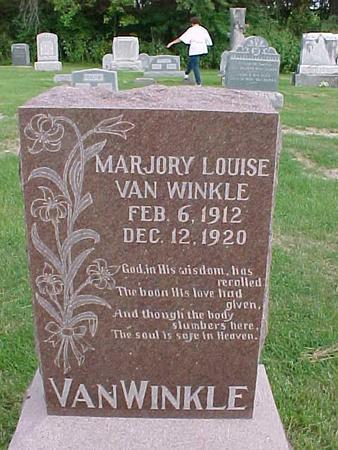 VANWINKLE, MARJORY LOUISE - Henry County, Iowa | MARJORY LOUISE VANWINKLE