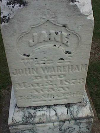 WAREHAM, JANE - Henry County, Iowa | JANE WAREHAM