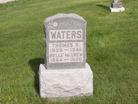 MCGREW WATERS, BELLE - Henry County, Iowa | BELLE MCGREW WATERS