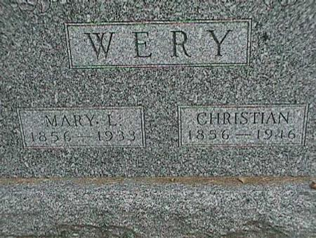 WERY, CHRISTIAN - Henry County, Iowa | CHRISTIAN WERY