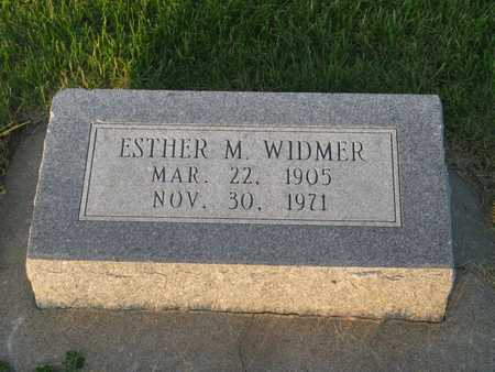 WIDMER, ESTHER M - Henry County, Iowa | ESTHER M WIDMER