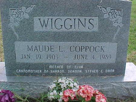 COPPOCK WIGGINS, MAUDE L. - Henry County, Iowa | MAUDE L. COPPOCK WIGGINS