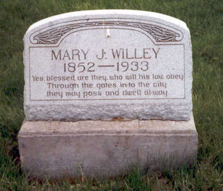 PRIER WILLEY, MARY JANE - Henry County, Iowa | MARY JANE PRIER WILLEY