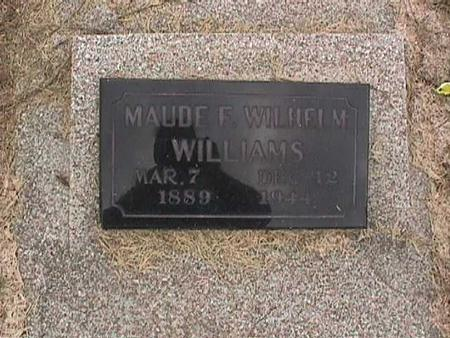 WILLIAMS, MAUDE - Henry County, Iowa | MAUDE WILLIAMS
