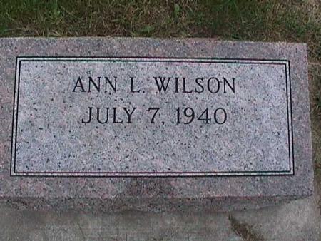 WILSON, ANN - Henry County, Iowa | ANN WILSON