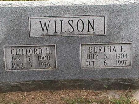 WILSON, BERTHA F - Henry County, Iowa | BERTHA F WILSON