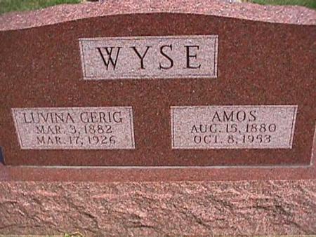 GERIG WYSE, LUVINA - Henry County, Iowa | LUVINA GERIG WYSE