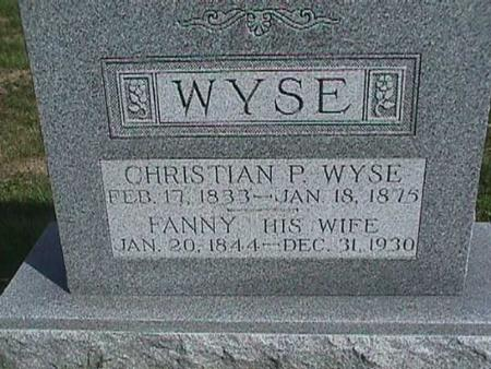 WYSE, CHRISTIAN - Henry County, Iowa | CHRISTIAN WYSE