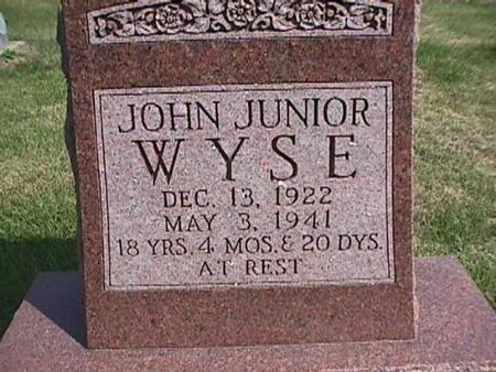 WYSE, JOHN JR. - Henry County, Iowa | JOHN JR. WYSE