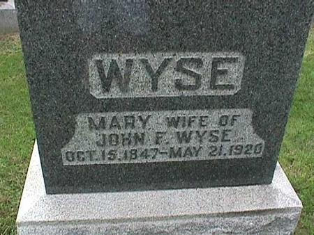 WYSE, MARY - Henry County, Iowa | MARY WYSE