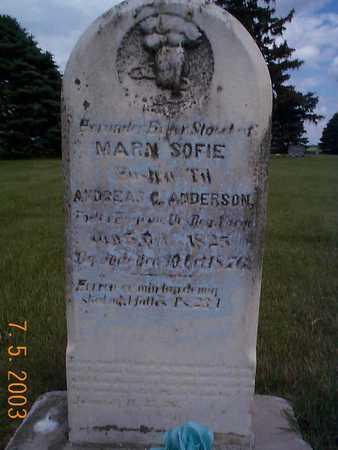 ANONSEN ANDERSON, MAREN SOFIE - Humboldt County, Iowa | MAREN SOFIE ANONSEN ANDERSON