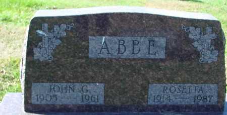 ABBE, JOHN & ROSETTA - Ida County, Iowa | JOHN & ROSETTA ABBE