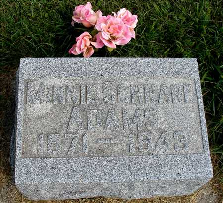 SCHNARE ADAMS, MINNIE - Ida County, Iowa | MINNIE SCHNARE ADAMS