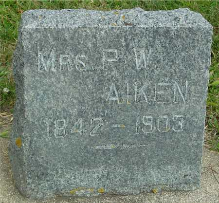 AIKEN, MRS. P. W. - Ida County, Iowa | MRS. P. W. AIKEN