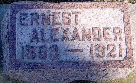 ALEXANDER, ERNEST - Ida County, Iowa | ERNEST ALEXANDER