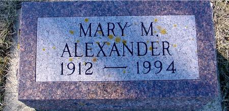 ALEXANDER, MARY M. - Ida County, Iowa | MARY M. ALEXANDER