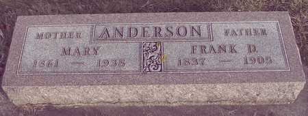 ANDERSON, FRANK D. & MARY - Ida County, Iowa | FRANK D. & MARY ANDERSON