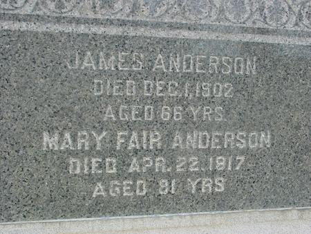 ANDERSON, JAMES & MARY - Ida County, Iowa | JAMES & MARY ANDERSON