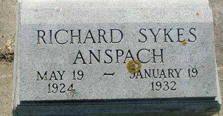 ANSPACH, RICHARD SYKES - Ida County, Iowa | RICHARD SYKES ANSPACH