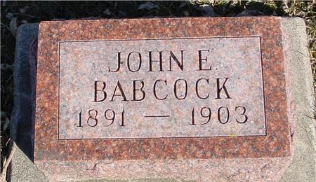 BABCOCK, JOHN E. - Ida County, Iowa | JOHN E. BABCOCK