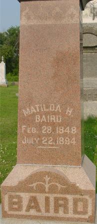 BAIRD, MATILDA H. - Ida County, Iowa | MATILDA H. BAIRD