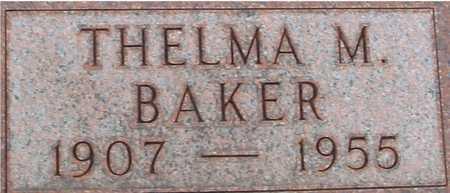 BAKER, THELMA M. - Ida County, Iowa | THELMA M. BAKER